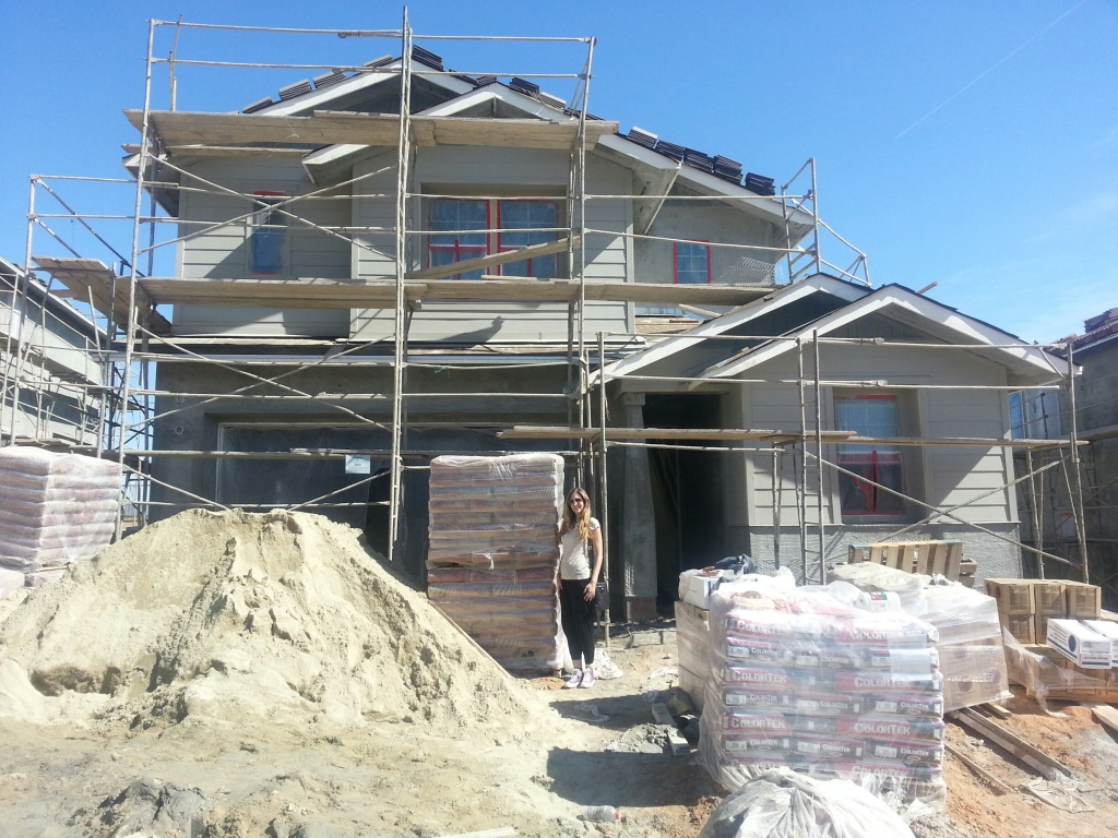 Our house, just like our baby, under construction!